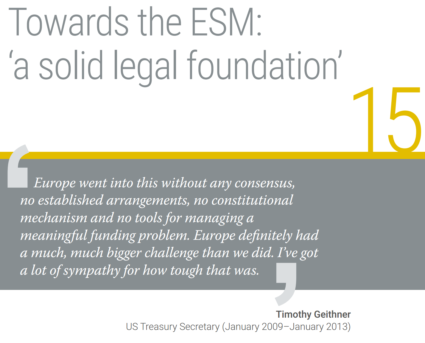 Efforts Underway To Fully Fund Idea >> 15 Towards The Esm A Solid Legal Foundation European Stability